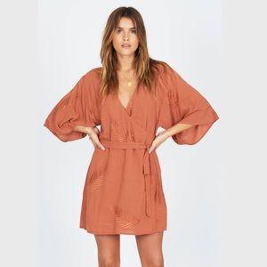 Amuse Society To The Tropics Mini Wrap Dress